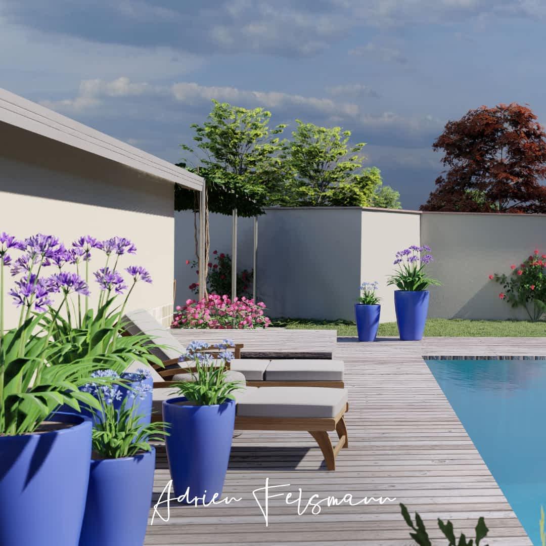 Structuration du jardin pour une esthétique minimaliste